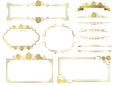 装飾的なフレームのベクトルを設定  イラスト・ベクター素材