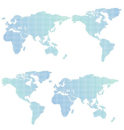 realist: World map of dots