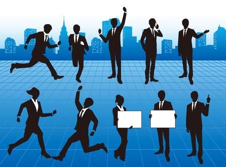 gente corriendo: gente de negocios