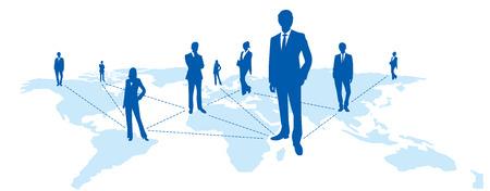 Weltkarte Social-Networking-Dienst