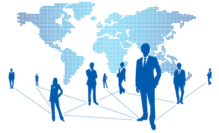 social networking service: World map Social Networking Service