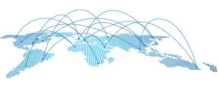 Carte du monde Vecteur Vecteurs