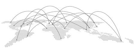 esp cards: World map Vector