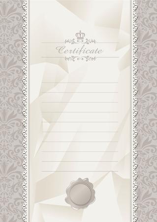 retro frame certificate invitation template