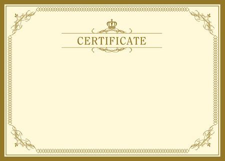 retro frame certificate template Vector