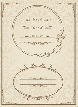 decorative frame set Vector