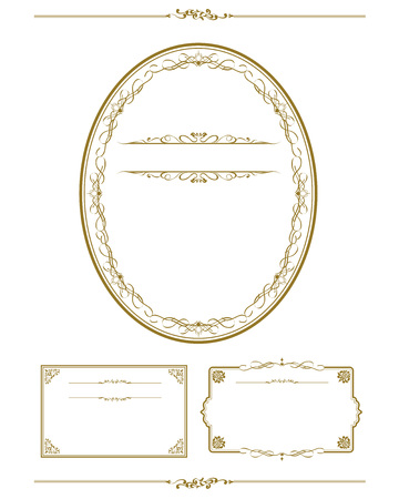 Frame set vector illustration.