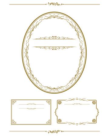 christmas decor: Frame set vector illustration.