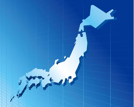 lejos: Japón mapa de la red de vectores