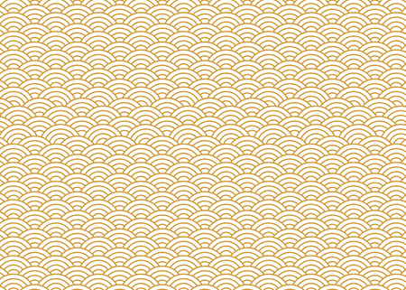 Japanese pattern gold Vector.