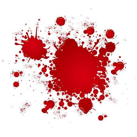 salpicadura de sangre salpicadura gota pintura Ilustración de vector
