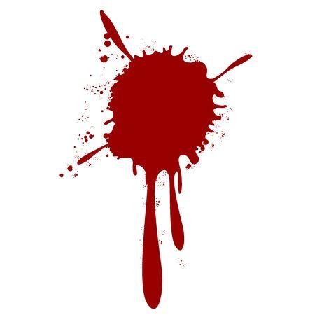 éclaboussures de sang goutte de peinture Vecteurs