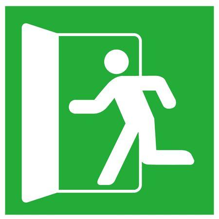emergency exit sign icon vector Stock Illustratie