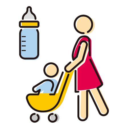 baby room sigh icon vector