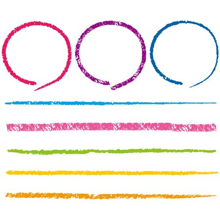crayon line marker collection Vector