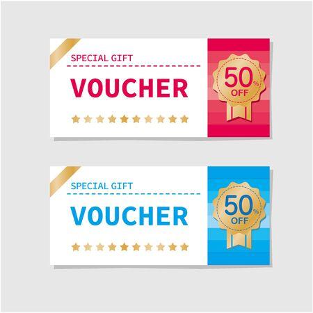 coupon voucher discount ticket vector Illusztráció