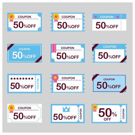 coupon voucher discount ticket vector Vektorgrafik