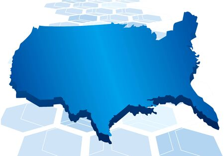 USA map network background Vector