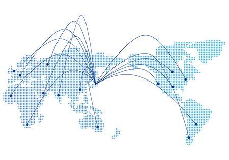 Social-Networking-Dienst globaler Vektor Vektorgrafik