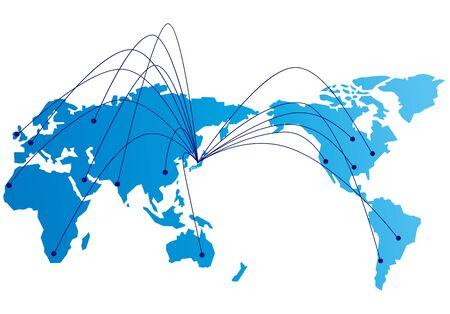 Social-Networking-Dienst globaler Vektor