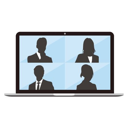Virtual Meetings, Work from Home vector