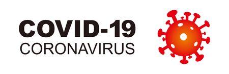 Coronavirus outbreak and coronaviruses  イラスト・ベクター素材