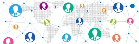 Social networking service global Vector