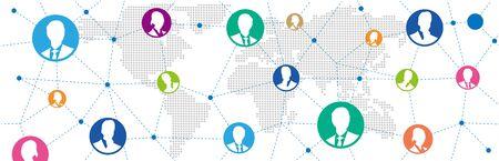 Social networking service global Vector Vetores