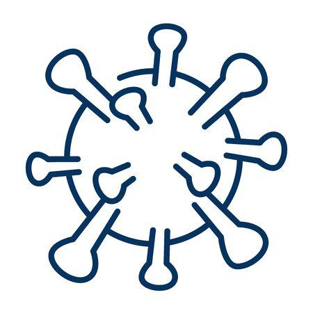 Coronavirus Bacteria Cell Icon vector