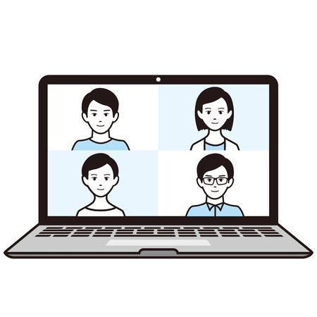 illustration of virtual Meetings image
