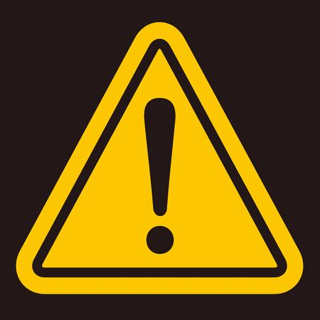 warning sign icon vector triangle
