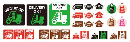 Online delivery service concept, online order tracking, delivery home and office and take away. Vecteurs