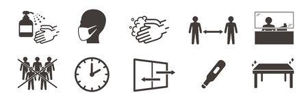 washing hands mask illustration vector Illustration
