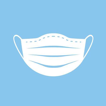 Novel coronavirus, people in medical face mask  イラスト・ベクター素材