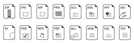 Symbol set file file icons set isolated vector 向量圖像