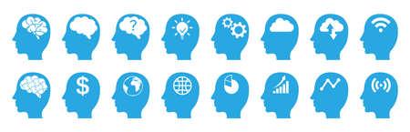 Human brain. Isolated vector icon Illusztráció