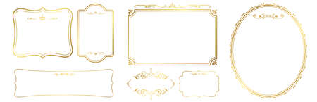 Set of frame vector illustration