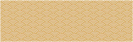 pattern of japanese gold Vector