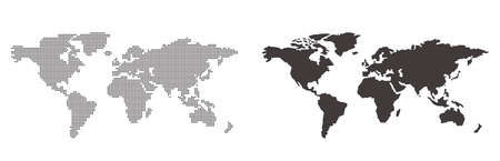 illustration of World map Vector