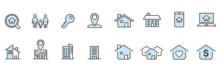 Real Estate icons collection vector Ilustração