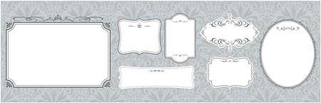 set of frame illustration Vector