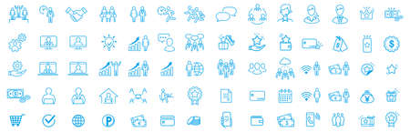 illustration of business icon set vector