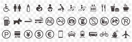 illustration of sign  icon set vector