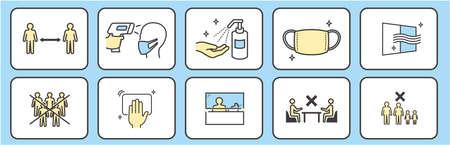 Hand Wash Mask Against Alcohol Disinfection Social Distance Vecteurs