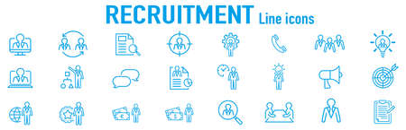 Set of recruitment vector Outline