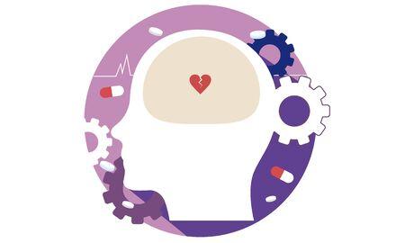 In the brain of a person with mental illness Illusztráció