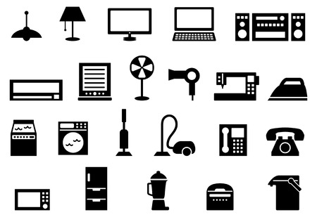 Electronique grand public icon set Vecteurs