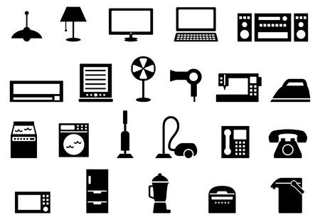Consumer electronics icon set