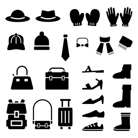Fashion gadgets icon set