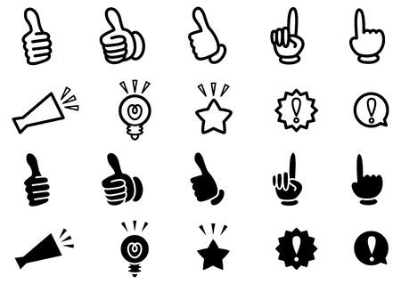 Featured recommendation icons Illustration